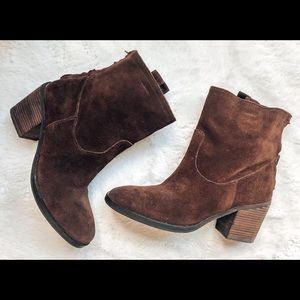 Sam Edelman Farrell Brown Suede Ankle Booties